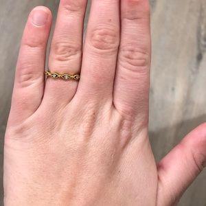 18k gold vermeil ring
